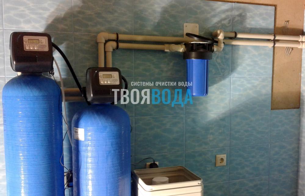 Система осветления и умягчения воды эконом класса
